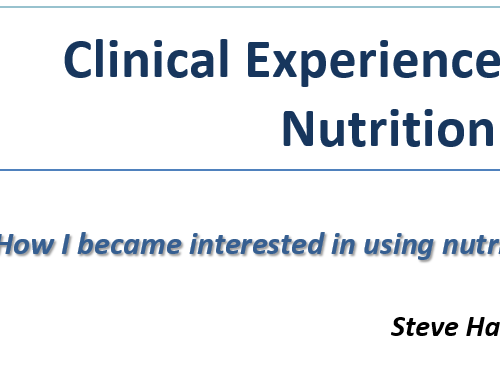 Clinical Experience with Use of Nutrition in Hospitals